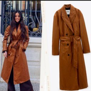 🔥FINAL SALE $🔥NEW ZARA FAUX LEATHER COAT Jacket